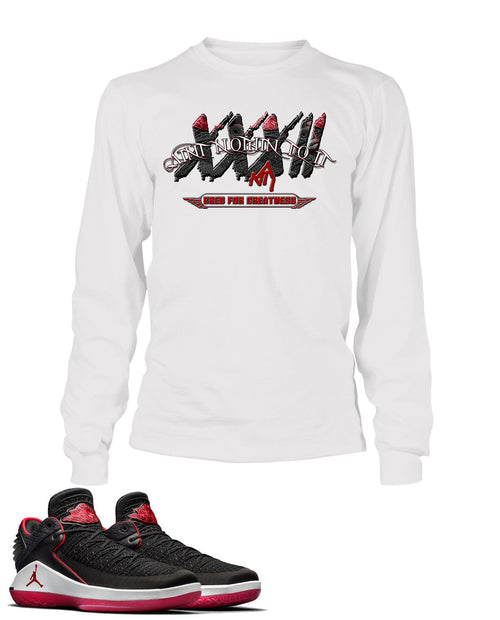 Nothin To It Graphic T Shirt to Match Retro Air Jordan 32 Low Bred Shoe