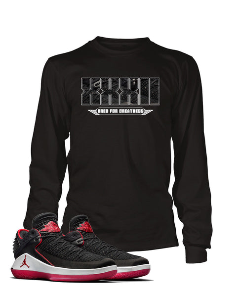 Greatness Graphic T Shirt to Match Retro Air Jordan 32 Low Bred Shoe