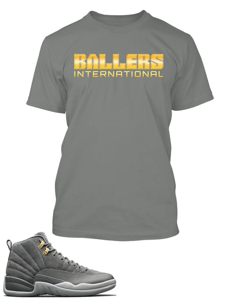 Baller International Graphic T Shirt to Match Retro Air Jordan 12 Shoe
