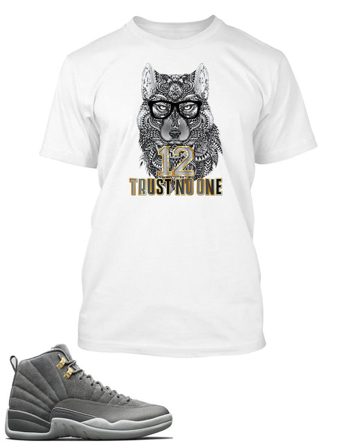 New Wolf, Trust No One Graphic T Shirt to Match Retro Air Jordan 12 Shoe