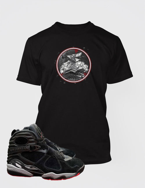 Graphic Get Paid T Shirt to Match Retro Air Jordan 8 Cement Shoe