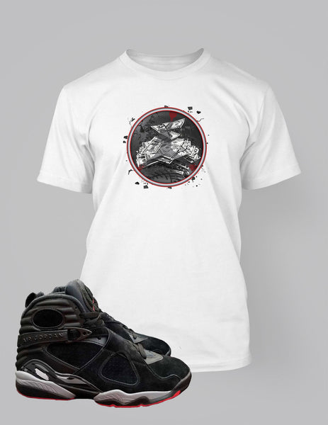 online retailer 10fac 474f5 Graphic Get Paid T Shirt to Match Retro Air Jordan 8 Cement Shoe