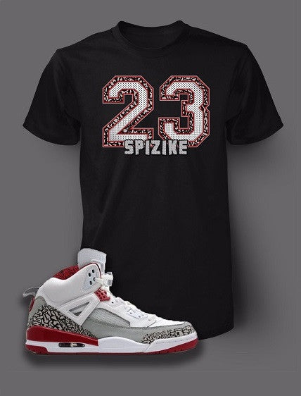 Graphic T Shirt To Match Retro Air Jordan 5 Spizike White Cement Shoe