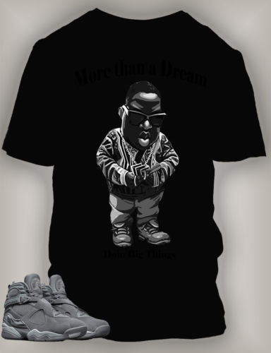Graphic T Shirt to Match Retro Air Jordan 8 Cool Grey Shoe
