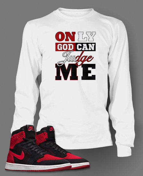New Long Sleeve 2 Pac Graphic T-Shirt To Match Retro Air Jordan 1 Flynit Shoe