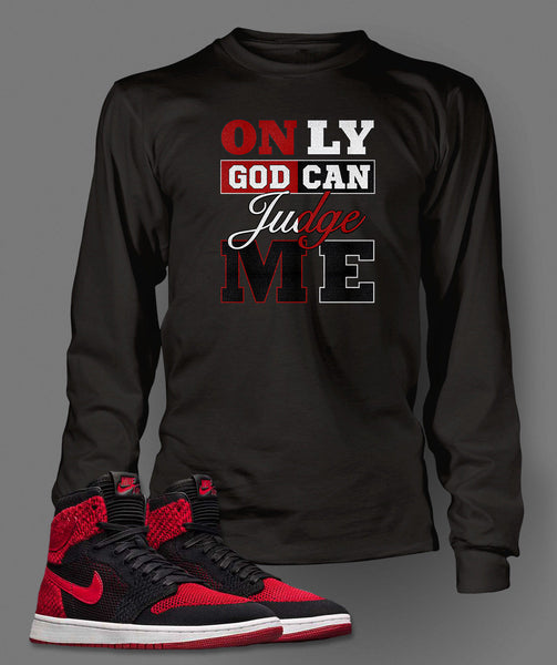 Long Sleeve 2 Pac Graphic T-Shirt To Match Retro Air Jordan 1 Flynit Shoe