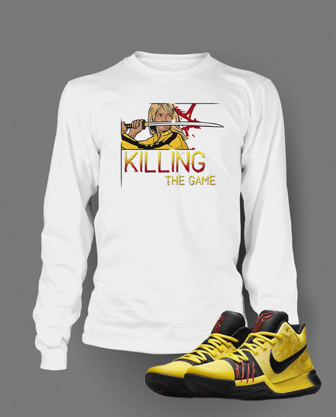 Killing The Game Graphic T Shirt to Match Kyrie 3 Bruce Lee Shoe