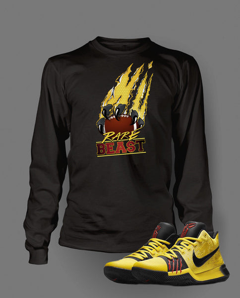 Rare Beast Graphic T Shirt to Match Kyrie 3 Bruce Lee Shoe