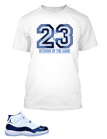 New Veteran Of The Game Graphic T Shirt to Match Retro Air Jordan 11 Shoe