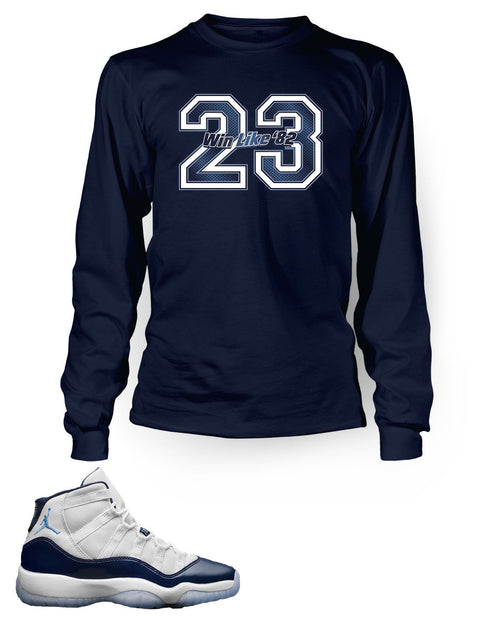 23 Graphic T Shirt to Match Retro Air Jordan 11 Win Like 82 Shoe