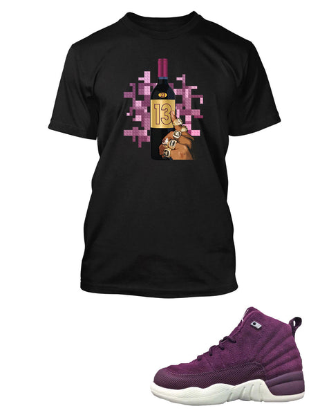 T Shirt to Match Retro Air Jordan 12 Bordeaux Shoe