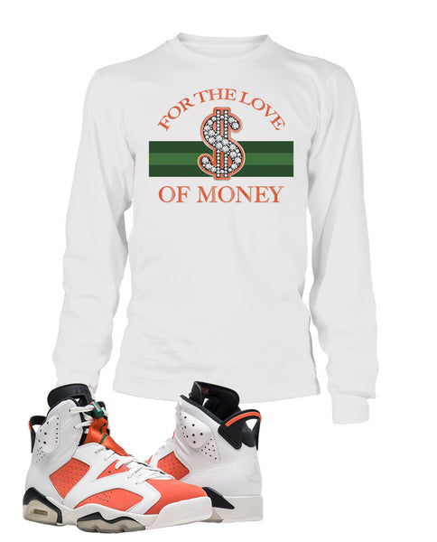 249a4943051636 For The Love of Money Graphic T Shirt to Match Retro Air Jordan 6 Gato –  Vegas Big and Tall