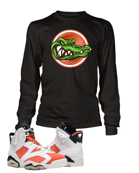 cb0112456f7cba Gator Graphic T Shirt to Match Retro Air Jordan 6 Gatorade Shoe – Vegas Big  and Tall