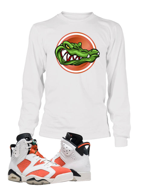 Gator Graphic T Shirt to Match Retro Air Jordan 6 Gatorade Shoe