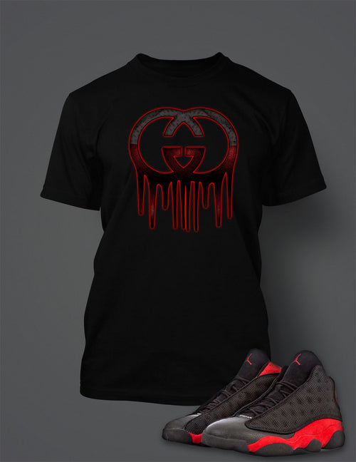 Graphic T Shirt to Match Retro Air Jordan 13 Bred Shoe