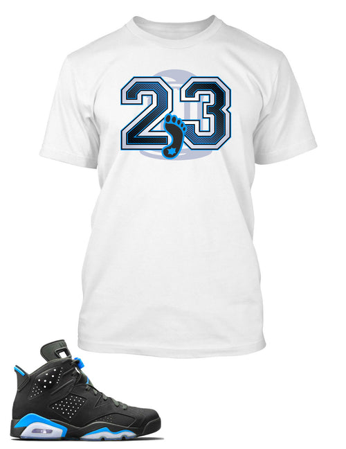 UNC T Shirt to Match Retro Air Jordan 6 Shoe