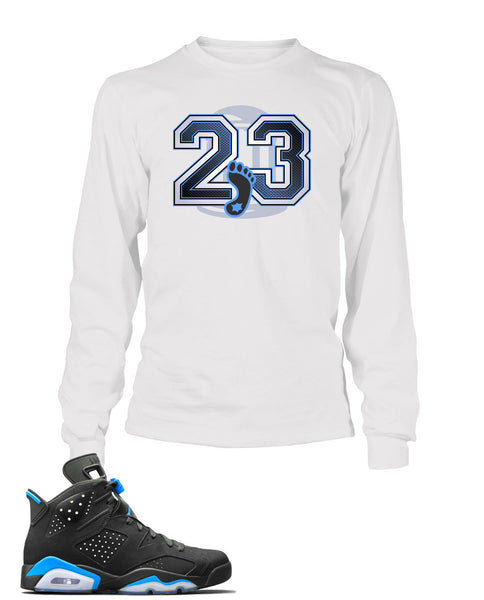 UNC Graphic T Shirt to Match Retro Air Jordan 6 Shoe