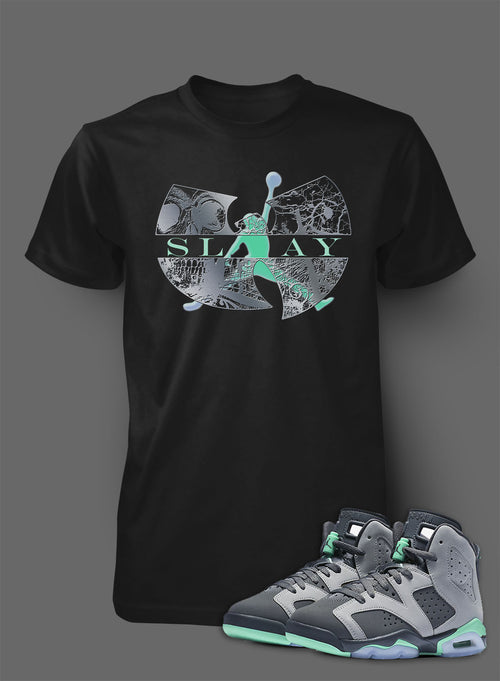 T Shirt To Match Retro Air Jordan 6 Green Glow Shoe - Just Sneaker Tees - 2