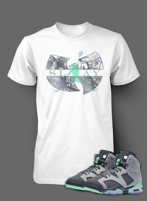 T Shirt To Match Retro Air Jordan 6 Green Glow Shoe - Just Sneaker Tees - 1