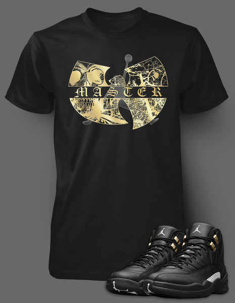 Custom T Shirt To Match Air Jordan 12 Wu Tang Shoe - Just Sneaker Tees - 1