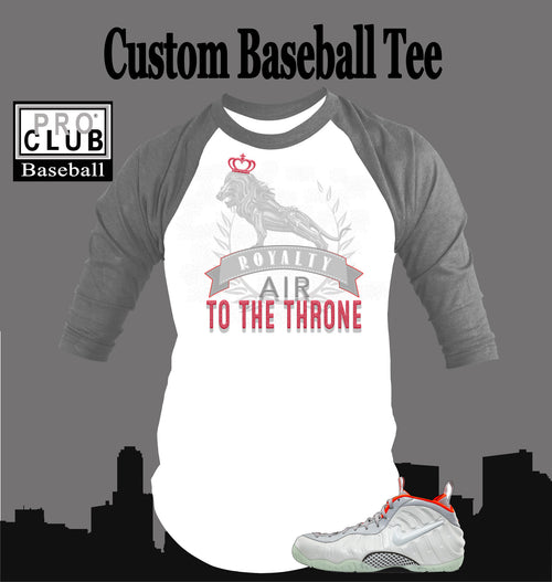 Baseball T Shirt To Match Pure Platium Yeezy Foamposite - Just Sneaker Tees