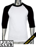 Pro Club Mens Baseball T Shirt - Just Sneaker Tees