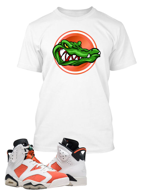 Gator T Shirt to Match Retro Air Jordan 6 Gatorade Shoe