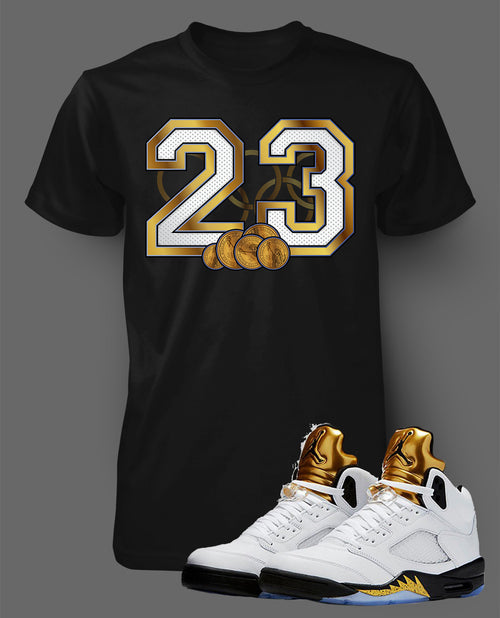 Custom T Shirt To Match Air Jordan 5 Olympics Shoe - Just Sneaker Tees - 2