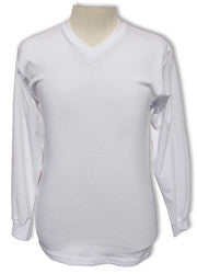 Pro Club Comfort V-Neck L/S White