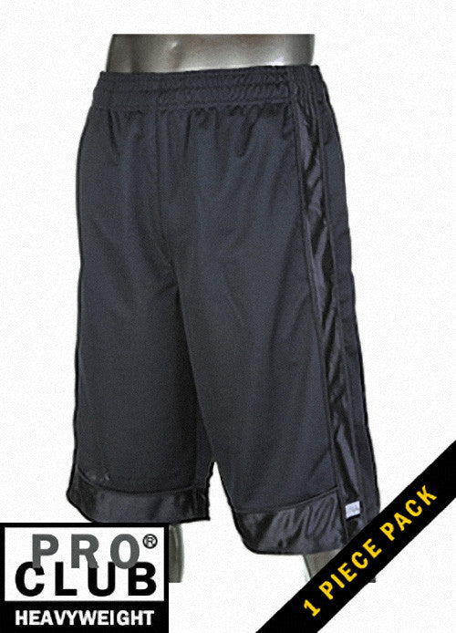 Pro Club MEN'S HEAVYWEIGHT MESH SHORT Black