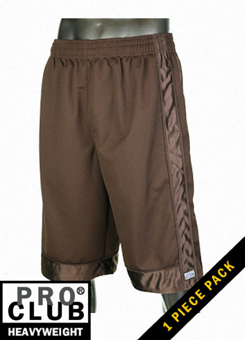 Pro Club MEN'S HEAVYWEIGHT MESH SHORT Dark Brown