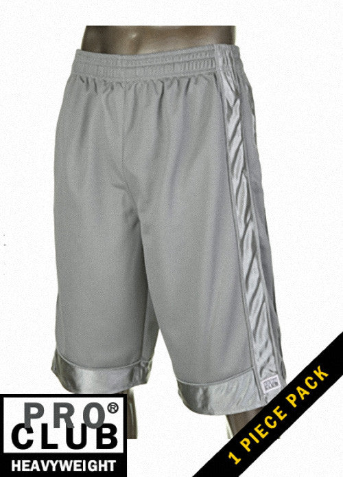 Pro Club MEN'S HEAVYWEIGHT MESH SHORT Gray