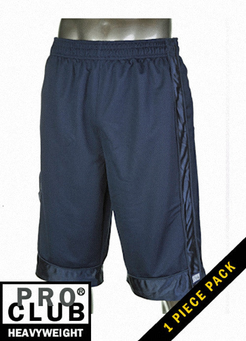 Pro Club MEN'S HEAVYWEIGHT MESH SHORT Navy Blue