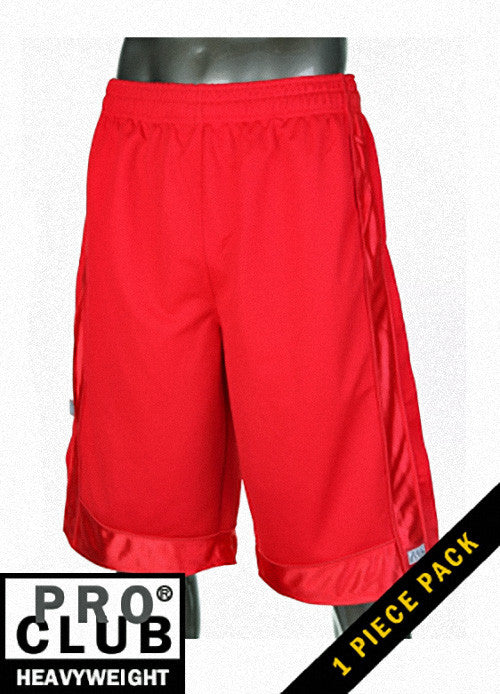 Pro Club MEN'S HEAVYWEIGHT MESH SHORT Red