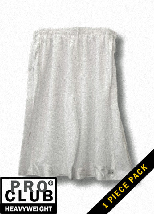 Pro Club MEN'S HEAVYWEIGHT MESH SHORT White