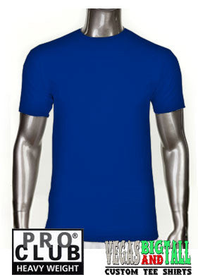 PRO CLUB Short Sleeve  HEAVYWEIGHT Premium T Shirt Royal Blue