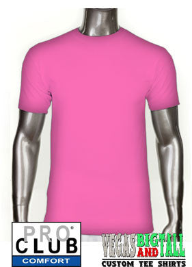 Pro Club Comfort Short Sleeve Hot Pink T-Shirt
