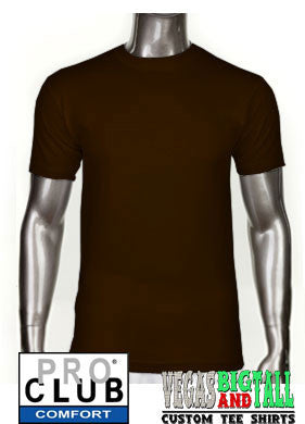 Pro Club Comfort Short Sleeve Chocolate Brown T-Shirt