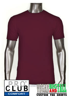 Pro Club Comfort Short Sleeve Deep Maroon T-Shirt