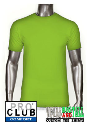 Pro Club Comfort Short Sleeve Lime Green T-Shirt