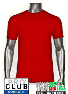 Pro Club Comfort Short Sleeve Red T-Shirt