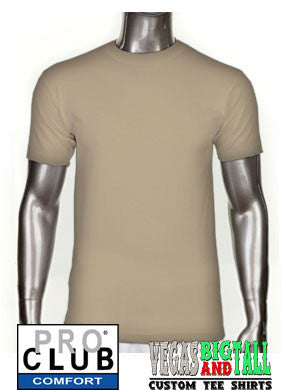 Pro Club Comfort Short Sleeve Tan T-Shirt