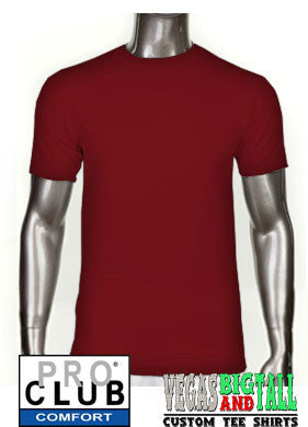 Pro Club Comfort Short Sleeve Burgundy T-Shirt
