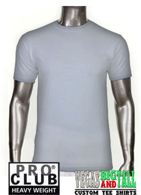 PRO CLUB Short Sleeve  HEAVYWEIGHT Premium T Shirt Heather Grey