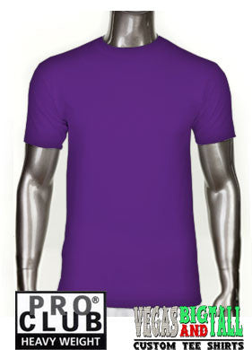 PRO CLUB Short Sleeve  HEAVYWEIGHT Premium T Shirt Purple