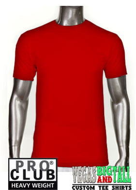PRO CLUB Short Sleeve  HEAVYWEIGHT Premium T Shirt Red