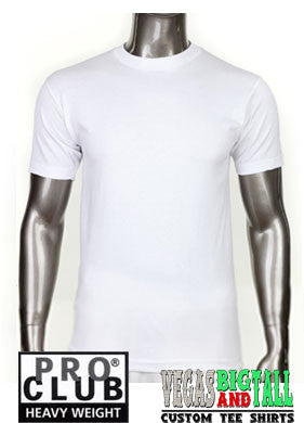 PRO CLUB Short Sleeve  HEAVYWEIGHT Premium T Shirt White