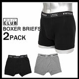 Mens Pro Club BOXER BRIEF (COLOR MIX PACK) 2 per Pack - Just Sneaker Tees