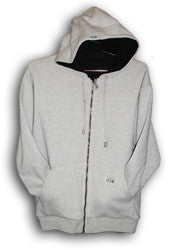 Pro Club Reversible Full Zip Gray Hoodie