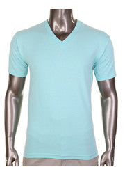 Pro Club Comfort Short Sleeve V-Neck T-Shirt Seafoam Green